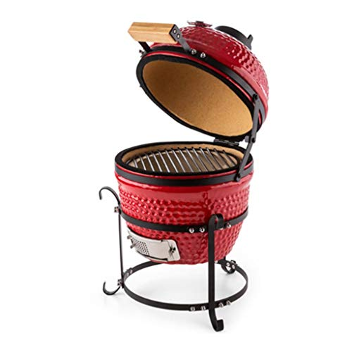 ChangDe - Weber Holzkohlegrills BBQ Grill - Outdoor Keramik Grill Garten Camping BBQ Emaille Grill Abnehmbarer Ei Holzkohlegrill