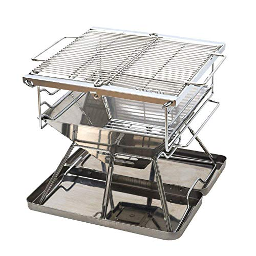 GPWDSN Outdoor Grillzubehör Easy Barbecues Set Klappgrill Herd Klappgrill Leichtgrill Holzkohlegrill ist nicht klebrig Barbecue Outdoor