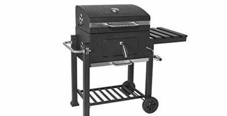 HIZLJJ Feuerstellen, Holzkohlegrill Grillen im Freien, Camping, Tailgating Charcoal Rack-Grill inklusive Faltbare Edelstahl-Grill-Tools Barbecue Grill Regal