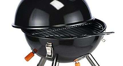 KUGELGRILL MINI IN SCHWARZ PICKNICKGRILL TISCHGRILL CAMPINGGRILL PICKNICK - GRILL