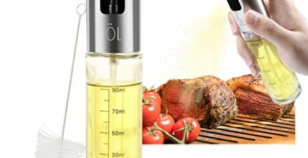 Mitening Öl Sprüher, Ölsprüher Ölspray Essig und Öl Spender Olivenöl Flasche Oil Spray Bottle Sprayer Dispenser Sprühflasche Glas für BBQ Grillen Küche Kochen Brot Backen Braten Pasta Salate 100ML