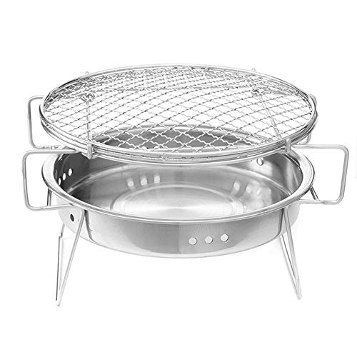 Tragbarer Grill Folding Picknick Charcoal Grill Grill Folding Grill Zubehör Mobile Küche, die Werkzeug for Outdoor-Camping Mini BBQ Grill Edelstahl BBQ Grill