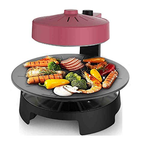 WJJJ New BBQ Poke Hot Pot Non-Stick All Powerful Stovetop Grill Maschine Smoke-Free Baking Electric Multifunctional Pan Multi Purpose Pot Korean Style Black Kitchen Pot