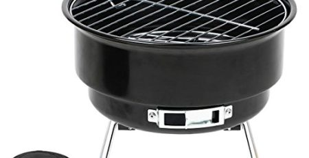 Grill-Eimer Holzkohlegrill für Garten Terrasse Camping Festival Picknick Party BBQ Barbecue 25,4 cm