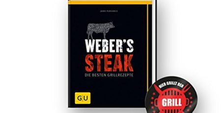 "Original Weber Grillbibel | Weber's Steak - die Besten Grillrezepte + ""Grillmeister"" Sticker by Collectix"